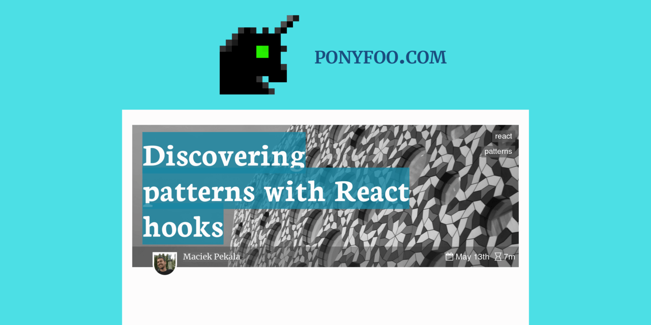 Discovering patterns with React hooks